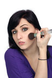 3 applicerar härligt makeupkvinnabarn Royaltyfri Fotografi