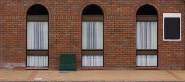 3 arco Windows Imágenes de archivo libres de regalías