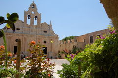 3 arkadi Крит monastary Стоковое Фото