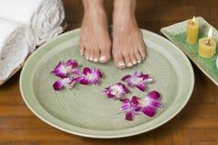 3 aromatherapy fot som kopplar av brunnsorten Royaltyfri Fotografi