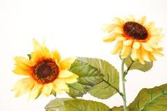 3 artificiels jaunes Photographie stock libre de droits