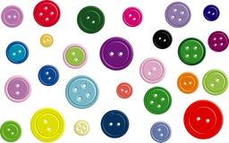3 asortowanych guzików kolorowych d Zdjęcia Stock