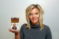 3 atrakcyjnych blondynki gospodyni domu potomstwa Obraz Stock