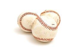 3 béisboles Fotografía de archivo