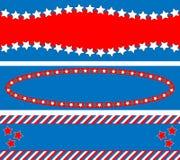 3 backgrou蓝色eps8红色星形镶边了向量白色 库存照片