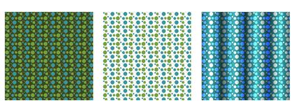 3 bakgrunder prucken polkaset Arkivbild