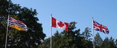 3 bandeiras Imagens de Stock Royalty Free