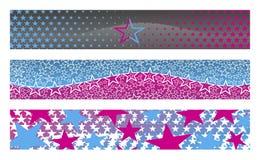 3 bandiere con le stelle illustrazione vettoriale
