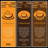 3 bandiere del caffè Fotografie Stock Libere da Diritti