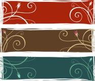 3 bandiere floreali Fotografia Stock Libera da Diritti