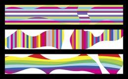3 bandiere variopinte Illustrazione Vettoriale