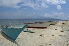 3 banka boats. Boats on a beach Royalty Free Stock Images