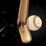 3 baseballa projekta elementu set Zdjęcia Stock