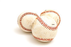 3 baseballs Stock Photography