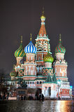 3 basil cathedral night st Στοκ Εικόνα