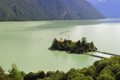 3 basongcuo wyspy jezioro mały Zdjęcia Royalty Free