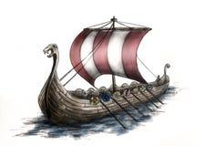 3 bateau Viking Images stock