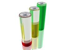 3 batterijen Stock Fotografie