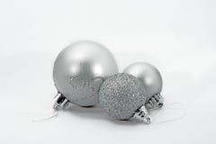 3 baulbles de Noël Images stock