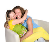 3 behandla som ett barn par som förväntar barn Arkivbild