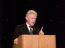3 Bill Clinton talar Arkivbild