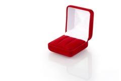 3 biżuterii pudełkowata czerwień Zdjęcia Royalty Free
