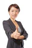 3 biznesowa pokazywać aprobat kobieta Obraz Royalty Free