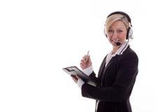 3 bizneswomanów słuchawki Zdjęcie Royalty Free