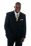 3 black business man suit Στοκ εικόνα με δικαίωμα ελεύθερης χρήσης