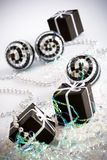 3 black gift box Royalty Free Stock Photos