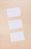 3 Blank Buisness Card wood Royalty Free Stock Photography