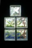 3 blokowy szklany oświetleniowy pokój Obrazy Stock