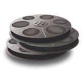3 bobine con nastro adesivo. Immagine Stock