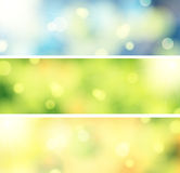 3 Bokeh banners Royalty Free Stock Photography