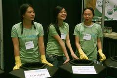 3 booth azjatykciego przetwarza młode kobiety Obraz Royalty Free