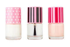 3 bottle with nail-polish Stock Photo