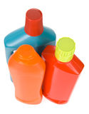 3 bottles of different detergents Stock Images