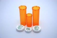 3 bouteilles manufacturées de médecine Photo libre de droits