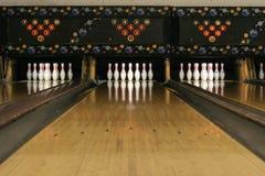 3 bowla lanes Arkivbild