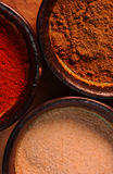 3 bowls filled with spices Stock Photography