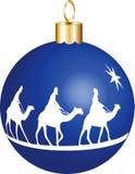 3 bożych narodzeń królewiątek ornament Zdjęcia Royalty Free