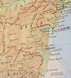 3 Brazylijskie Bahia mapa Fotografia Stock