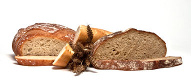 3 breads Stock Photography
