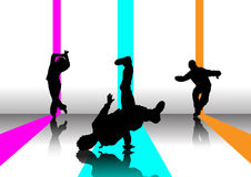 3 break dancer illustration Royalty Free Stock Photos
