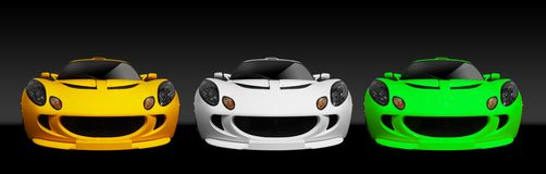 3 britisches Sport-Auto Lizenzfreie Stockfotos
