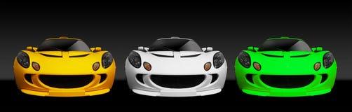 3 British Sports Car Royalty Free Stock Photos