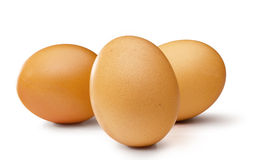 3 brown egg's Royalty Free Stock Photos