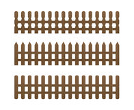 3 brown fence Royalty Free Stock Images