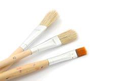 3 brushes. Three brushes isolated on a white background Stock Photo