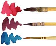 3 brushes stock photo